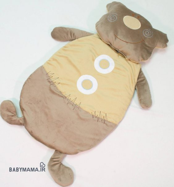 تشک و بالشت مخمل مدل خرس