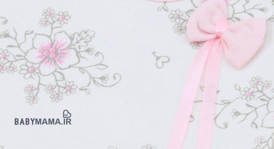 سرویس باز نوزادی پنبه تیتک مدل چاپی گل
