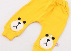 شلوار-پنبه-جیب-دار-ردپا-مدل-خرس-زرد