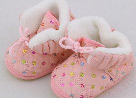 کفش خزدار مدل پولکی