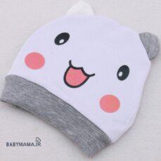 کلاه گرد تک چاپی مدل خرس