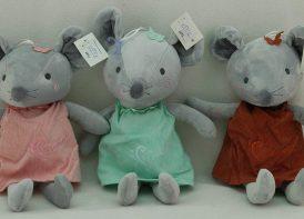 عروسک آویز موش لباس کبریتی