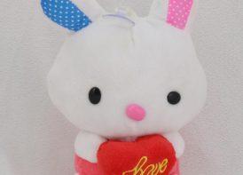 عروسک آویز خرگوش و قلب
