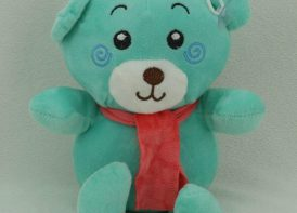 عروسک آویز خرس شالدار