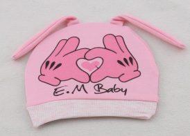 کلاه گرد Em Baby مدل قلب صورتی