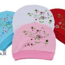 کلاه گرد em baby مدل گل