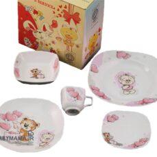 سرویس چینی 5 پارچه مربع مقصود مدل خرس