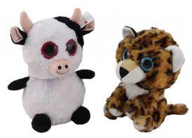 عروسک حیوانات چشم تیله ای