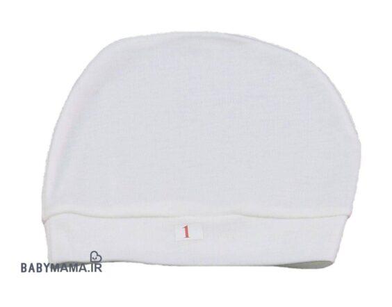 کلاه گرد سفید نخی