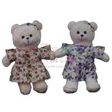 عروسک خرس لباس دار 35 سانتی