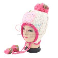کلاه بافت دخترانه نگین دار
