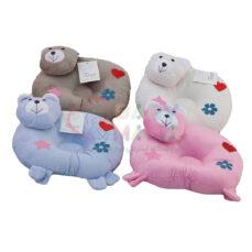 بالش شیر دهی و ضد خفگی مخمل مدل خرس تدی