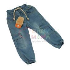 شلوار لی کمر کش OMID مدل 6 جیب مچی