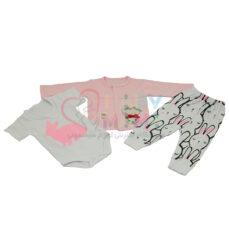 ست سه تیکه baby clothes مدل خرگوش