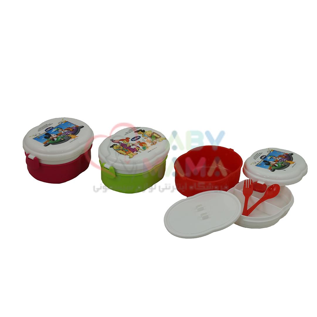 ظرف غذا دو طبقه tatia مدل بیضی