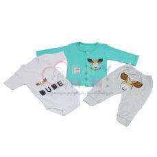 ست سه تیکه baby clothes گلدوزی گوزن