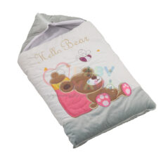 کیسه خواب مخمل توپی گلدوزی خرس