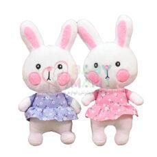 عروسک آویز خرگوش لپ صورتی