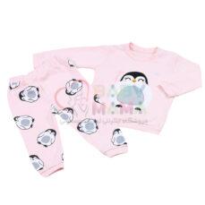 بلوز شلوار گلدوزی پنگوئن mahta baby
